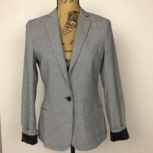 Maison Scotch Houndstooth Blazer Jacket EUC